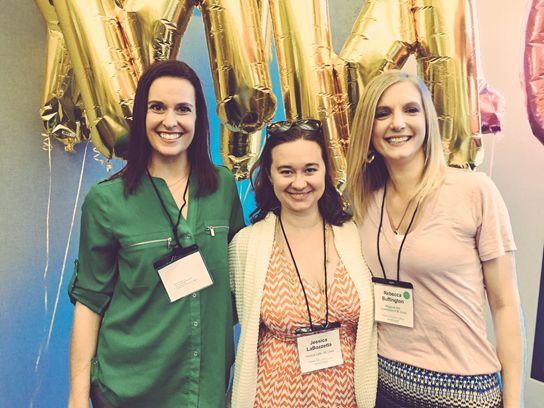 Kristen Mueller, Jessica LaBozzetta and Rebecca Buffington at the 2016 YNPN National Conference.