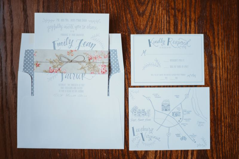 Full invitation suite. Photo c/o Jason Collins Photography.