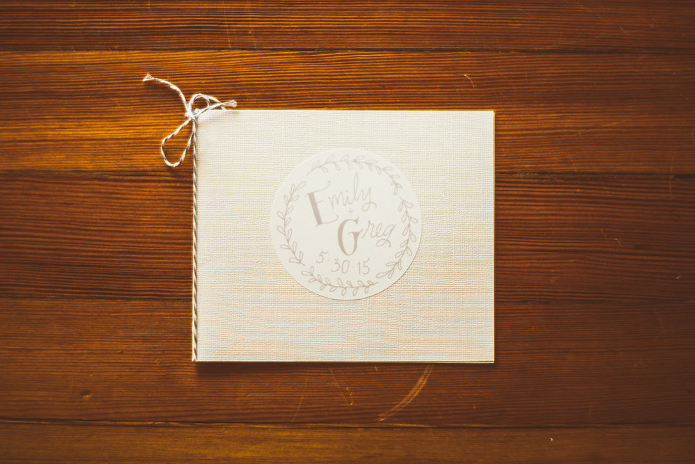Custom wedding logo. Photo c/o Jason Collins Photography.