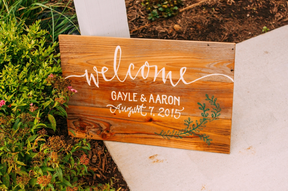 Welcome sign! Photo c/o  Jared Ladia Photography.