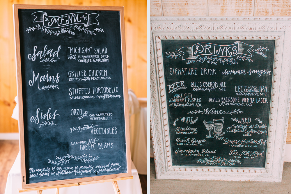 Food and drink menus, yum. Photo c/o  Jared Ladia Photography .