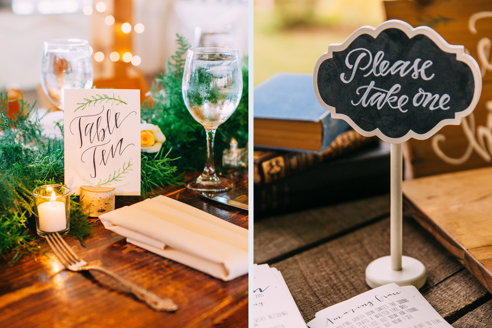 Table signage. Photo c/o  Jared Ladia Photography .