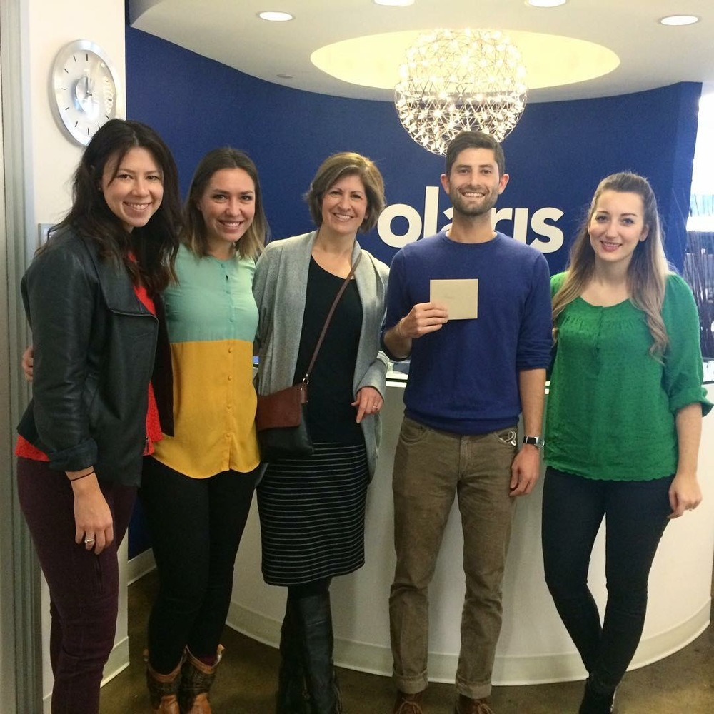 From left to right: Sara, Rhyan, Julie, Aaron, and Melody at Polaris Project's office in DC