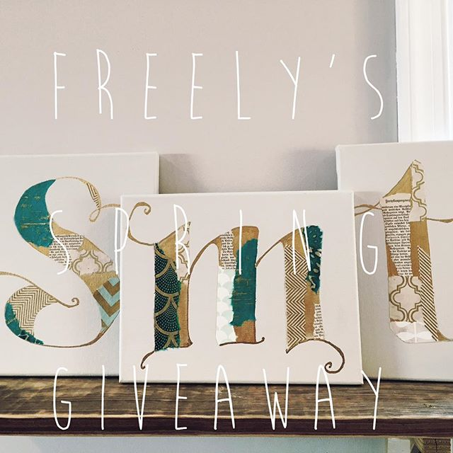 "🌷Happy spring, everyone! 🌷 In honor of the season's newness, Freely is doing its first-ever giveaway! First, follow Freely on Instagram, then tag two (or more) friends to be entered to win a custom collage monogram made by our very own @julieminterjohnson! The winner will be announced Friday @ 5pm so start tagging! [winner gets a custom letter and color Masonite monogram up to 24""x24"" in size]"