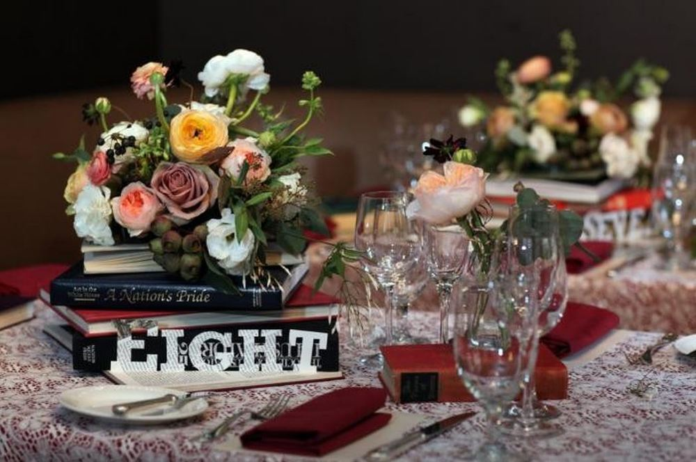 Romantic Book Themed Wedding Rosehip Social