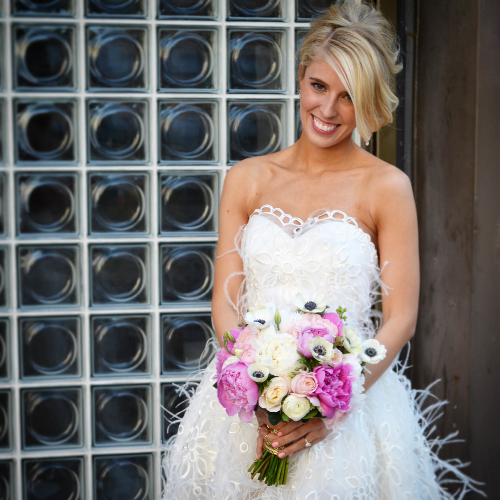 Bridal Bouquet Music Hall of Williamsburg Wedding.  Rosehip Social, Brooklyn, NY.