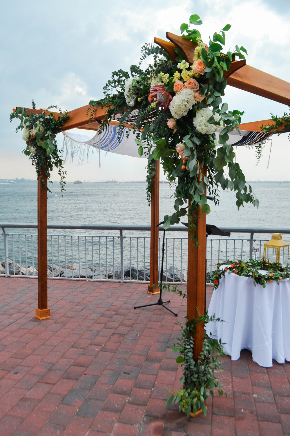 Natural chuppah at Liberty Warehouse Wedding