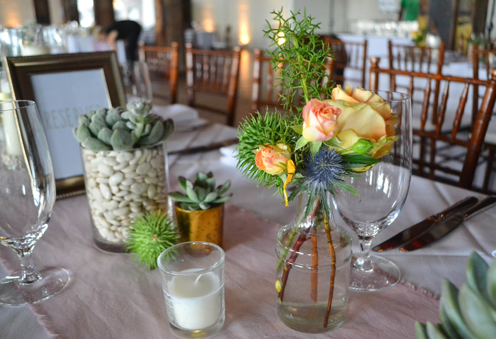 Liberty Warehouse Southwest Succulent Mexican wedding