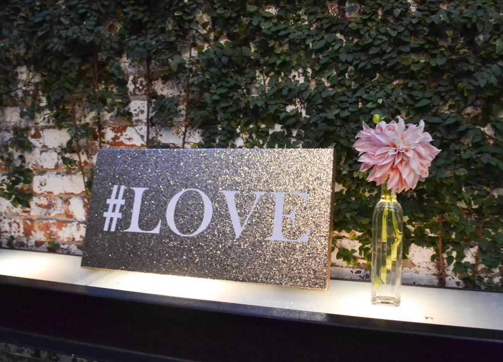 Foundry wedding, peach dahlia bud vase. Rosehip Social, Brooklyn NY.