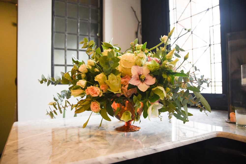 A gorgeous centerpiece for the Foundry wedding