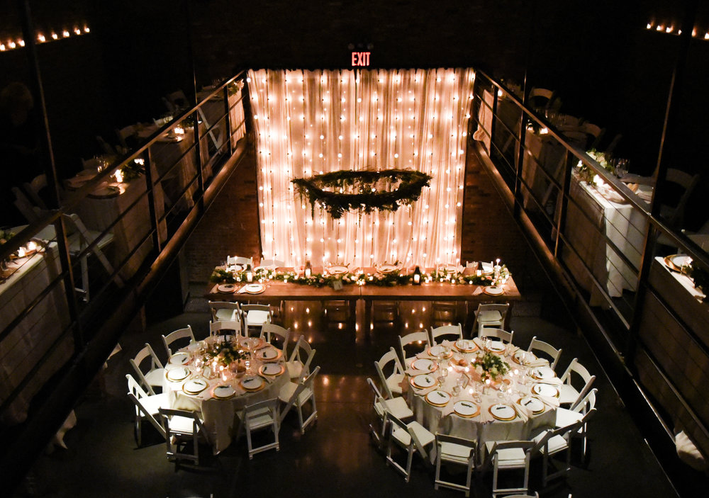 Ceremony decor can be reused for the reception