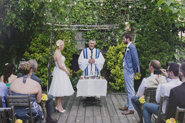 The ceremony in MyMoon's gorgeous garden