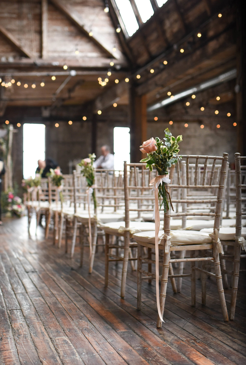 Chair decorations really add something special to the aisle