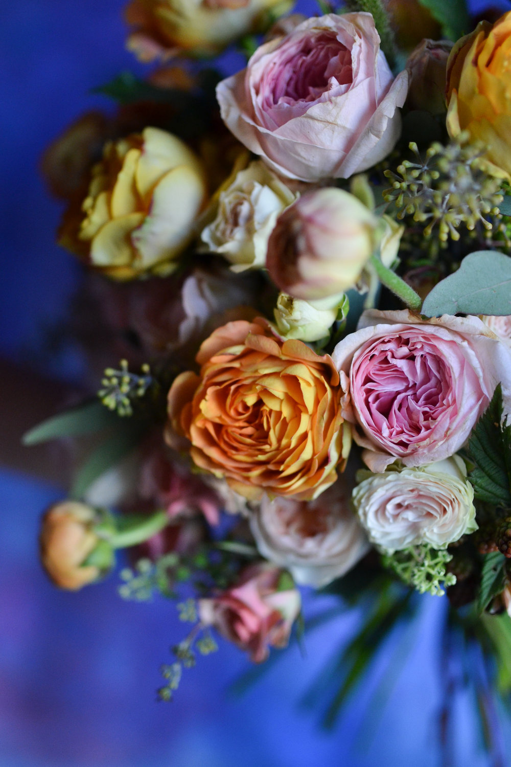 Up close and personal with the bridal bouquet
