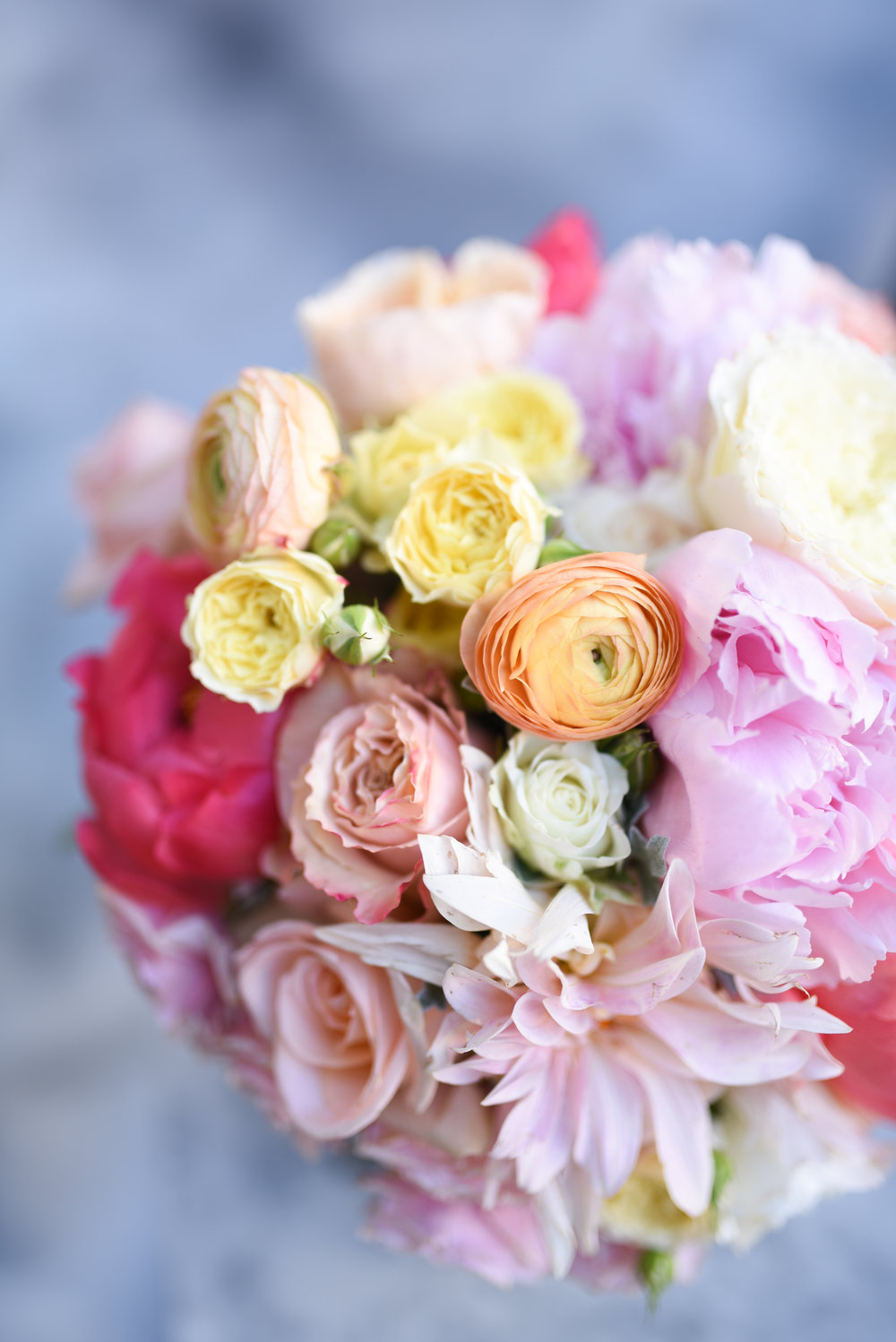 A beautifully colorful bouquet for this fall wedding in Brooklyn