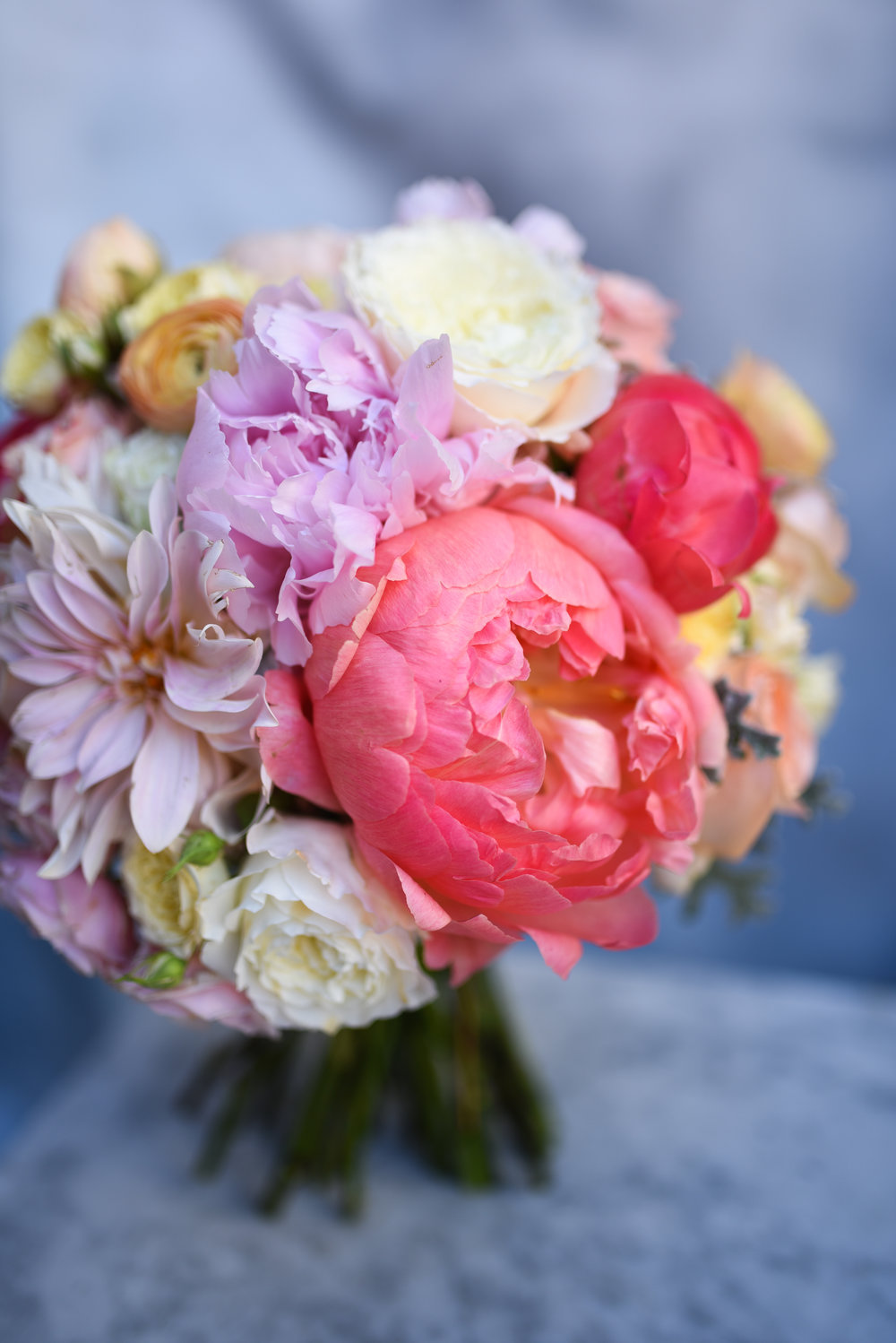 A lovely colorful bouquet for this October wedding at Deity NYC