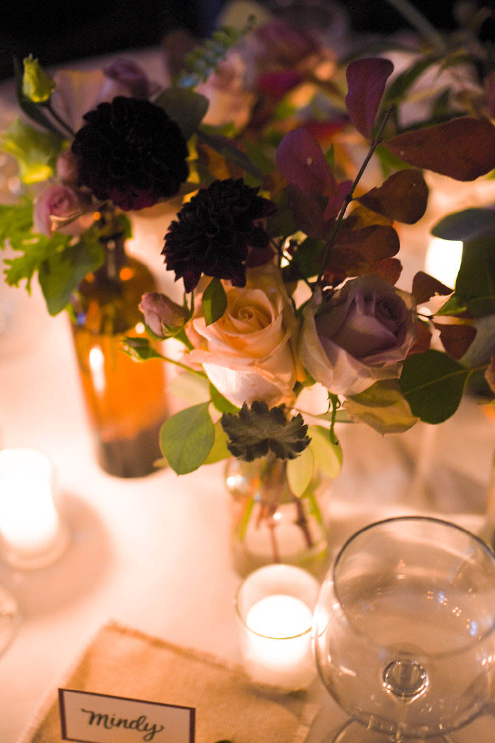 Subtle contrasts in flower colors are a lovely choice for this wedding in the Upper East Side