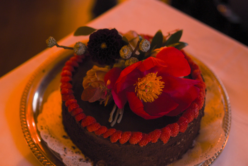 A lovely cake decoration for this fall wedding in Manhattan