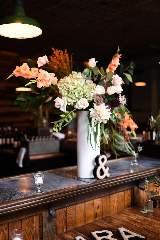 This asymmetrical flower arrangement is AMAZING