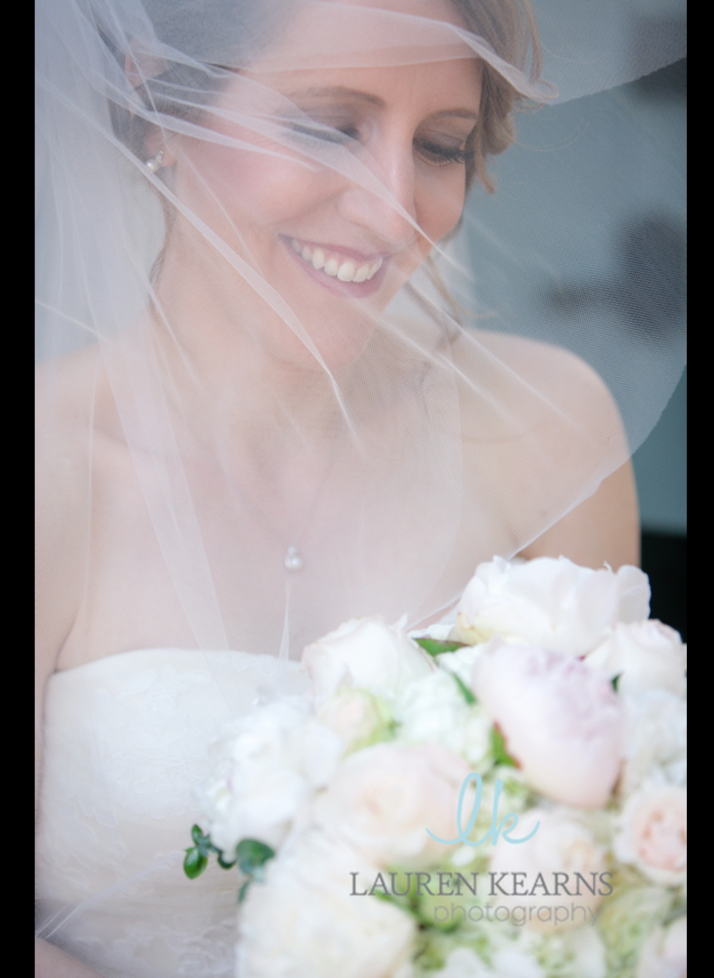 A veiled picture of the beautiful bride Kate
