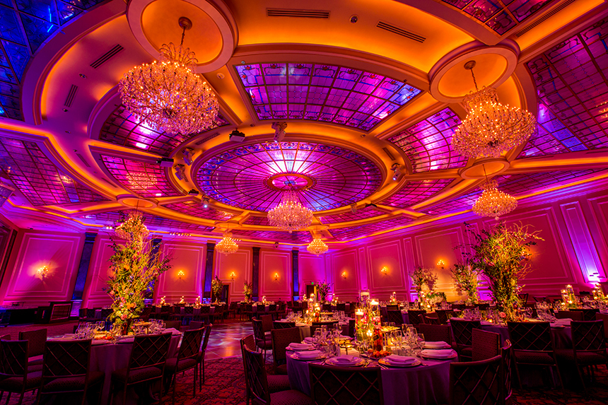 Purple, Orange, And Blue Wedding at Taglyan Complex, Hollywood. Image by Beautiful Day Photography