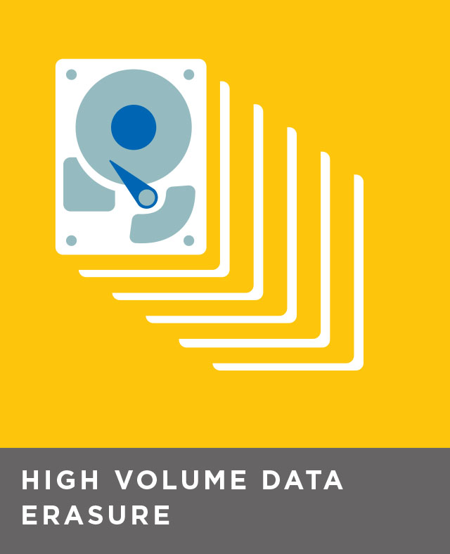 High volume, in-facility data erasure