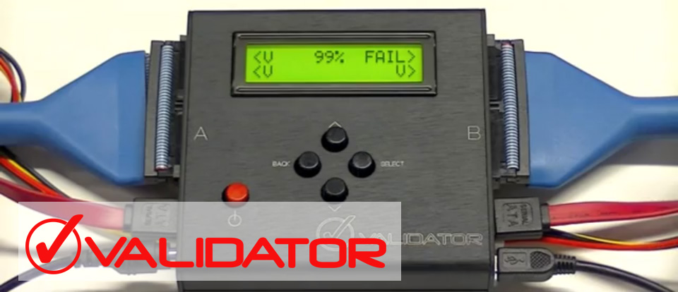 The VALIDATOR is a single-purpose device designed to verify drive erasure in a simple PASS/FAIL process.  DestructData developed the Validator to comply with major revisions in NIST's Special Publication 800-88: Guidelines for Media Sanitization and new standards issued by certification organizations. Read more.