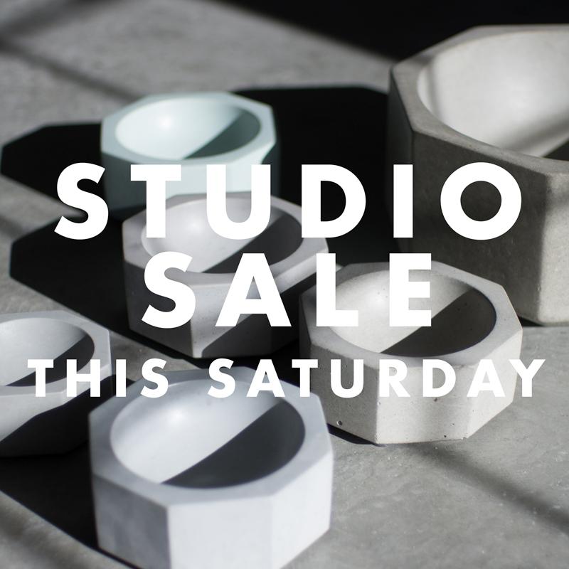 Studio Sale this Saturday