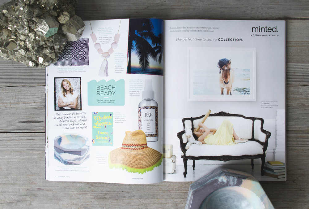 Thanks to Domino Magazine for featuring our Octavia Bowls in their Summer 2016 copy!