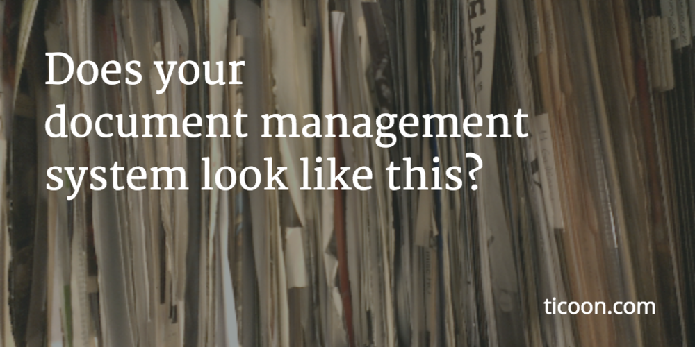 "Does your ""document management"" system look like this?"