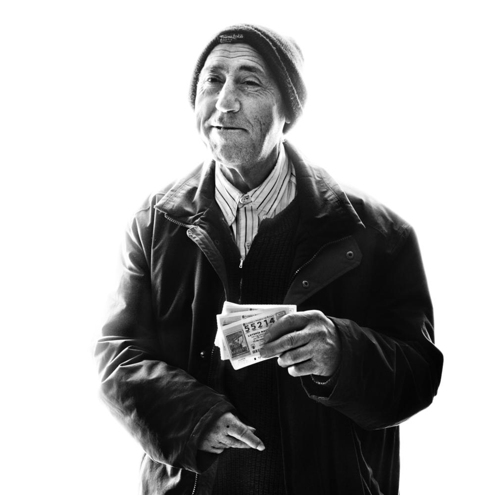Blind man, market series. Oscar Arribas © 2012 www.oscararribas.com/www.moodstudio.es