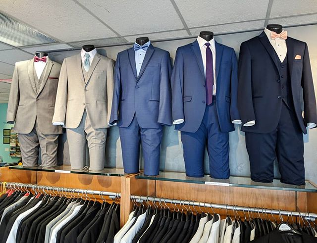 Bringing out the fun colors and best fits to help our customers choose the best styles for them! The sky's the limit with how many options are available!  #tuxedos #suits #rentals #eleganzagallery #tuxedorentals #mensformalwear #mensfashion #elmhurst #elmhurstbridalshop #bowties #weddings #prom #promtux #promready #jimsformalwear #savviformalwear #weddingparty