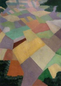 """Richard Carline, """"Pattern of French Fields behind Front Lines,"""" July 1918"""