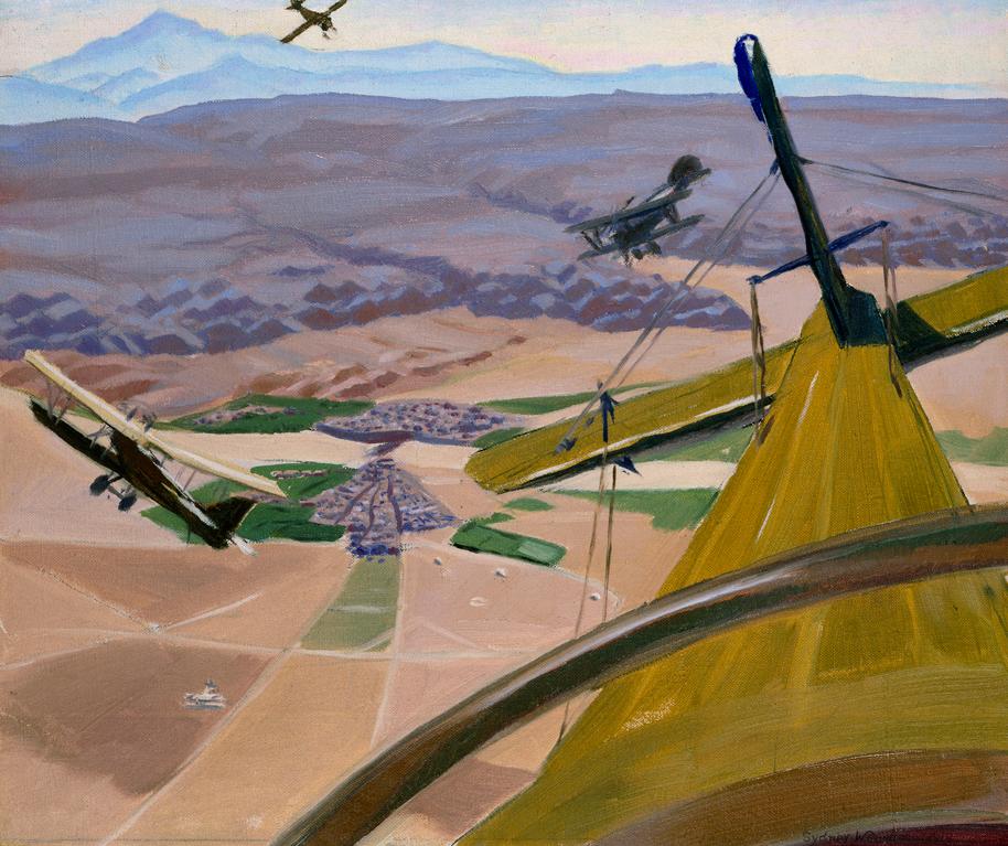 "Sydney Carline,""Flying Above Kirkuk,"" 1919"