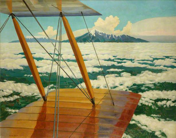 """Richard Carline, """"Mount Hermon and Mount Sannin above the Clouds,"""" 1920"""