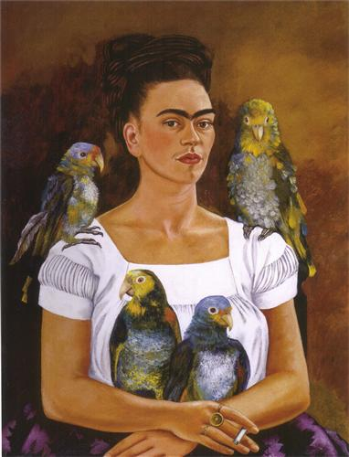"""""""Self Portrait with Parrots"""""""