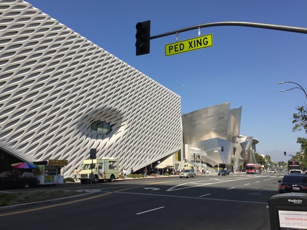 The Broad Museum can make architectural friends with Gehry's Disney Concert Hall but isn't too posh for food trucks.
