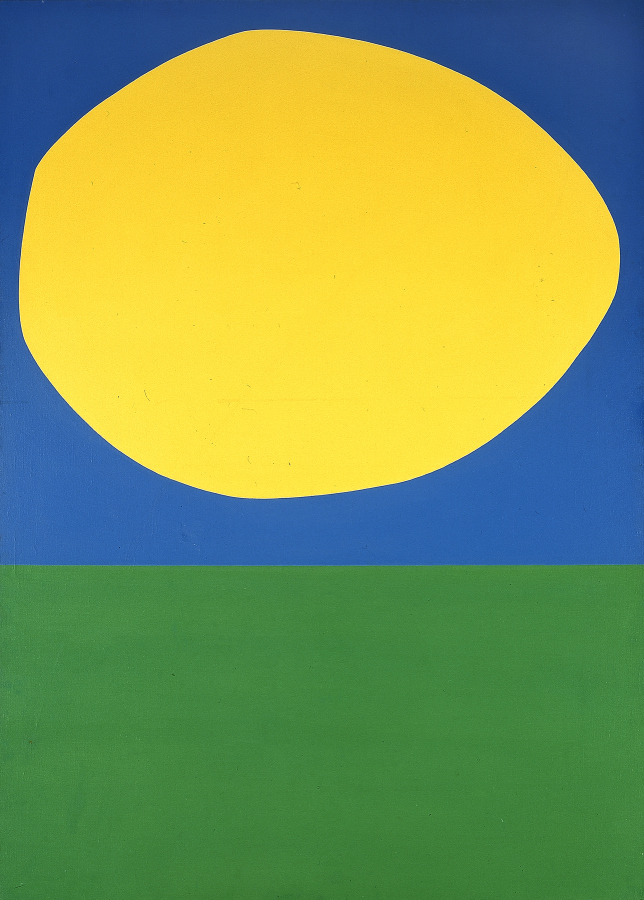 """High Yellow"" by Ellsworth Kelly⠀"