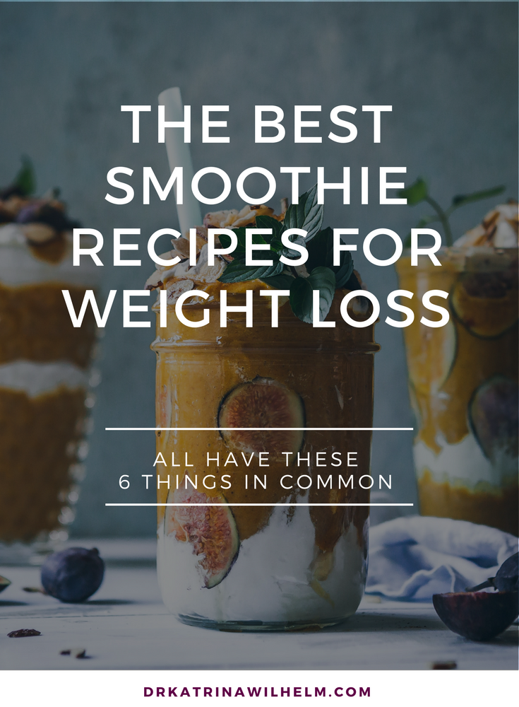 Dr Katrina Wilhelm Best smoothie recipes for weight loss