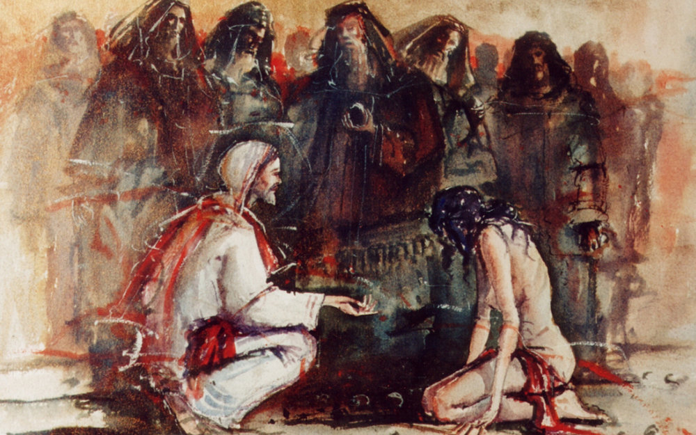 Art: Woman Caught in Adultery , John Martin Borg, 2002
