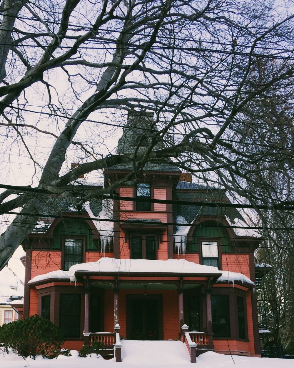 One of many beautiful Victorian houses in Jamaica Plain, MA.
