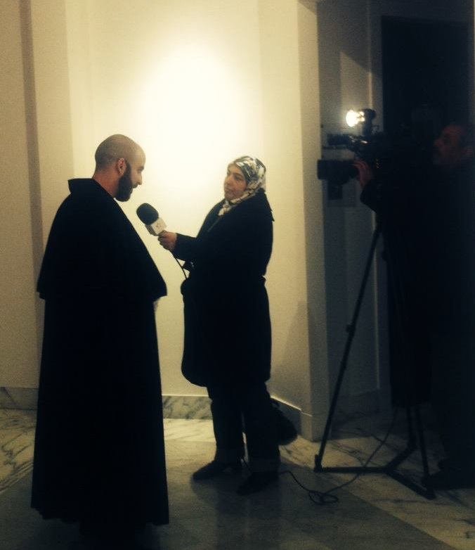 "Interview by the SNRT before reading ""Cyrano de Bergerac"" at the Villa des Arts Casablanca, January 21, 2014"