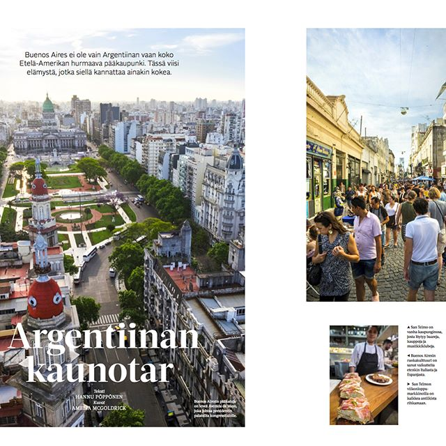 Crazy excited to have my images of beautiful Buenos Aires to be featured in Finland Mondo Travel Magazine!! My copy got a bit soggy on the journey so these are the images pre-print. Also featured are @_nolachef @nolabuenosaires @lekeitiovasco @properrestaurant @mondolehti @hannu.p @charlotteejustice #proudmoment#ihavenoideawhatthetextsays #travelmagazine #travelphotography#buenosaires #argentina #argentinatravelguide #travel#bestdestinations