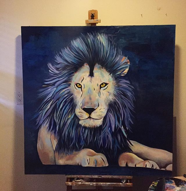 Long overdue progress shot 🦁48x48 . . . . . #kategordonart #sandiegoart #sandiegoartist #artgallery #oilpainting #oilpaint #art #artist #artwork #canvas #WIP #paint #painting #illustration #illuminate #colorful #lion #lioneyes #drawing #draw #create #paws #lionking #palatte #easel #color #fineart