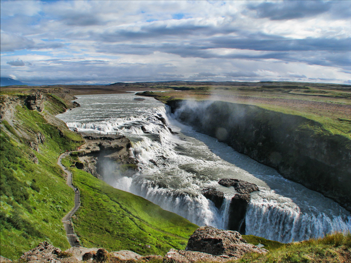 Gullfoss Falls  Photo Cred:  The Blonde Abroad