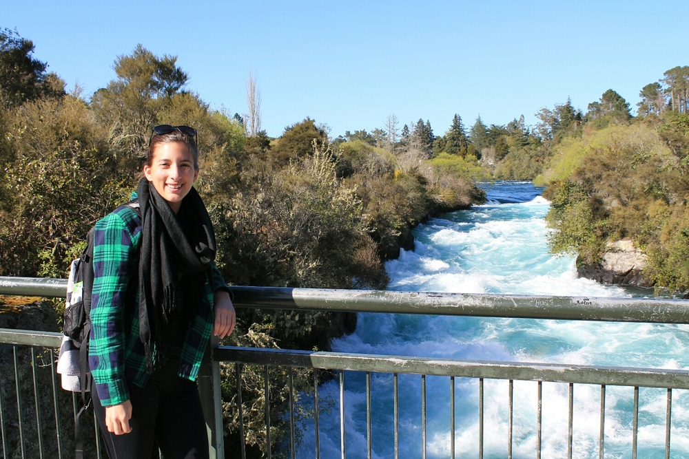 About 500 feet upstream from Huka Falls