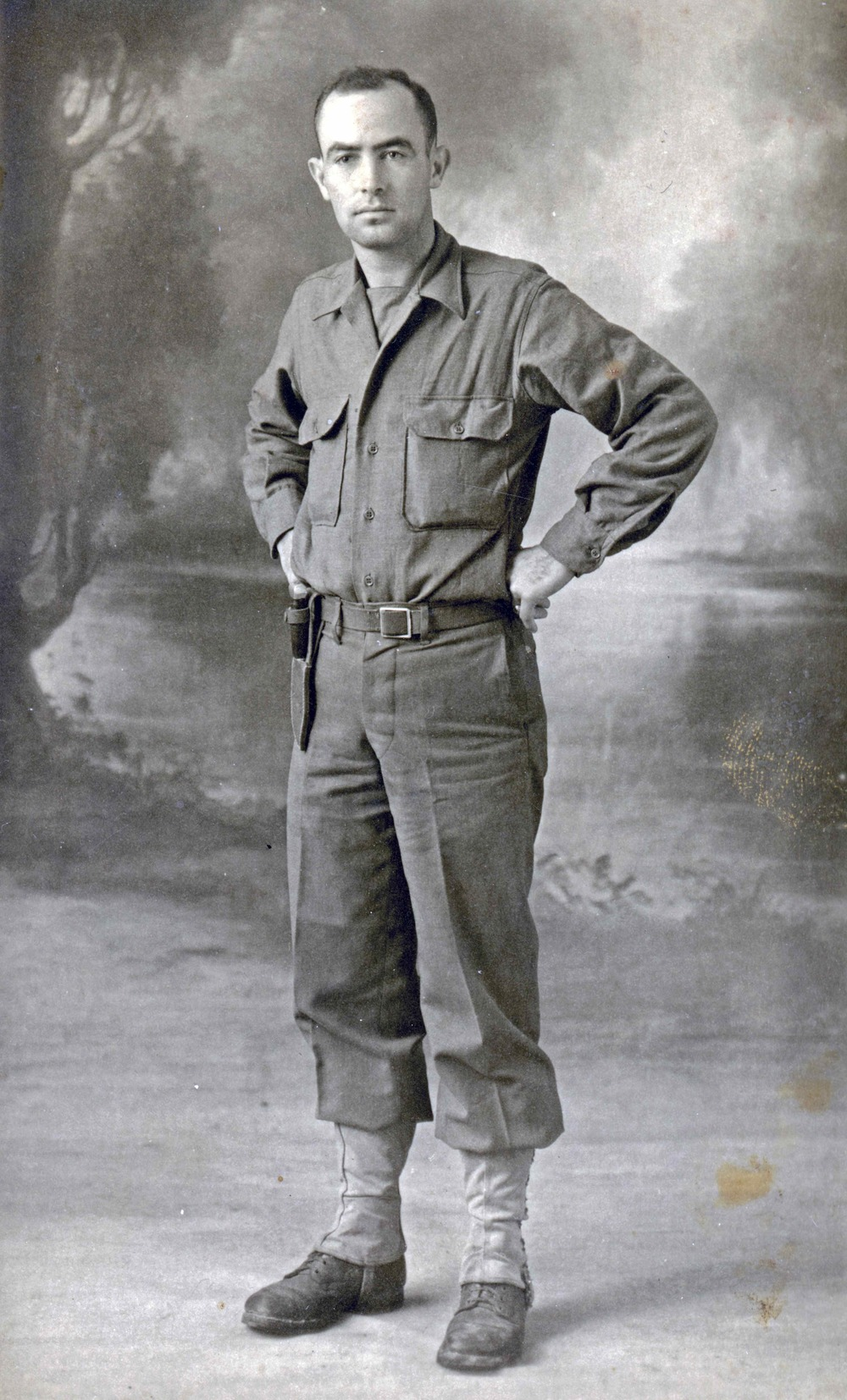"The director's uncle, HT ""John""  Shotts, serving the U.S. Army in France in 1944"