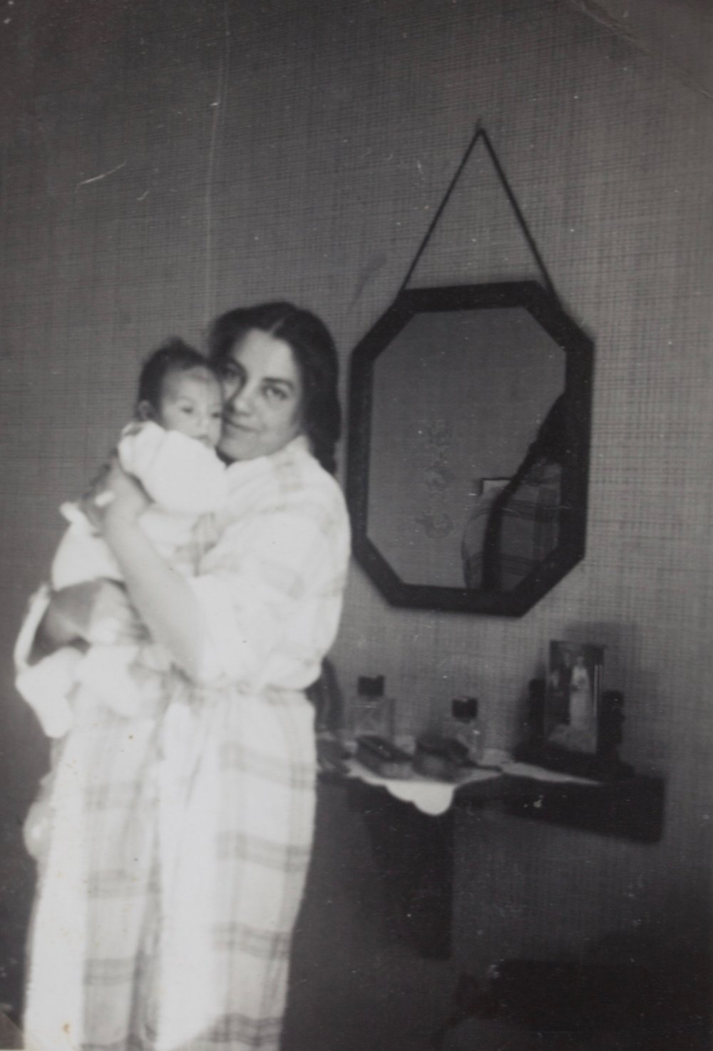 Baby Stella and her mother, from a family album she shared with us.