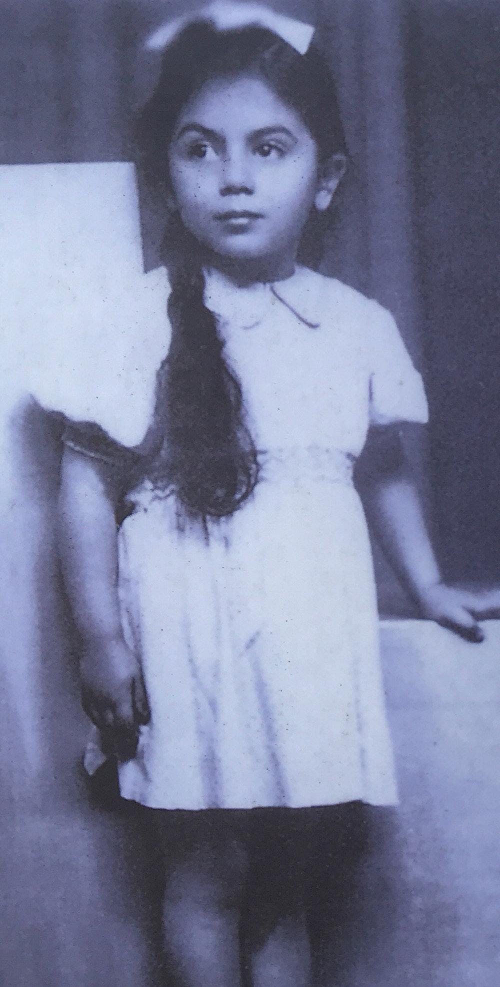 Young Stella, before she was imprisoned at Ravensbrück.