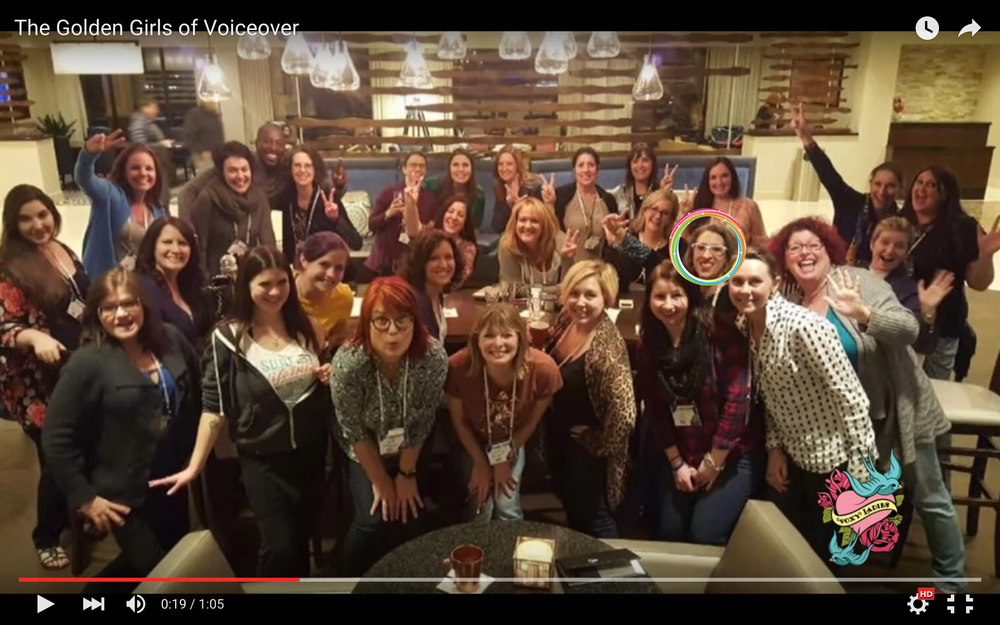 "Screen shot from ""The Golden Girls of Voiceover"" video posted by Gabrielle Nistico"